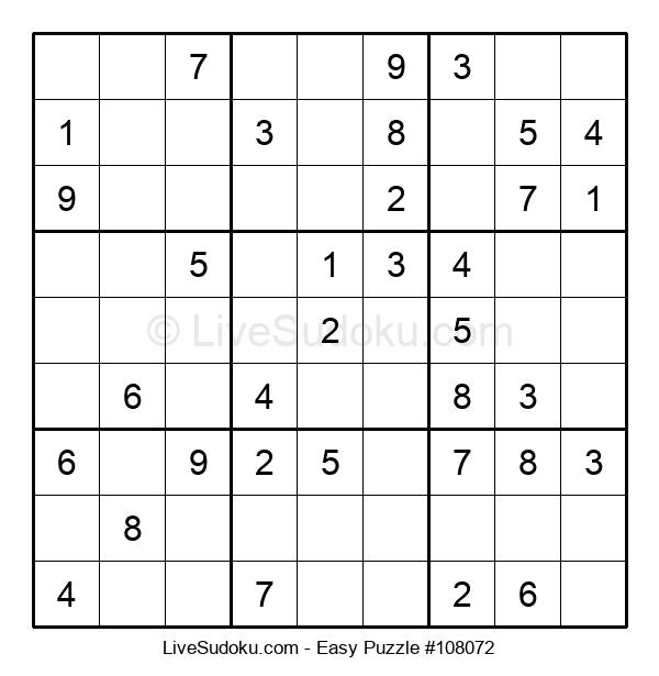 Beginners Puzzle #108072
