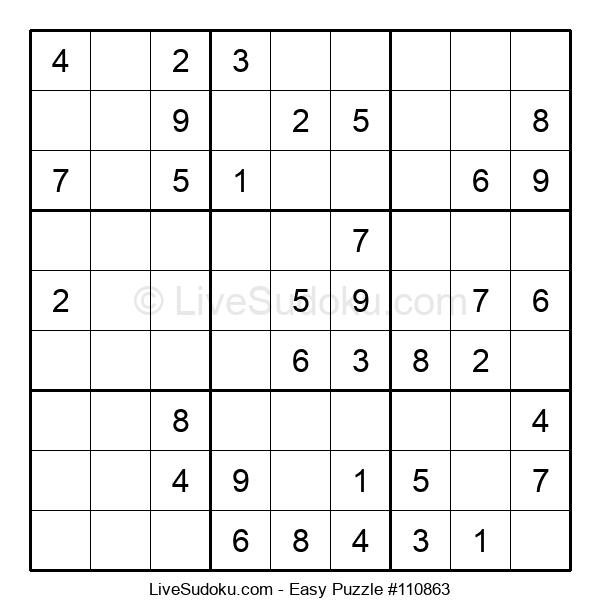 Beginners Puzzle #110863