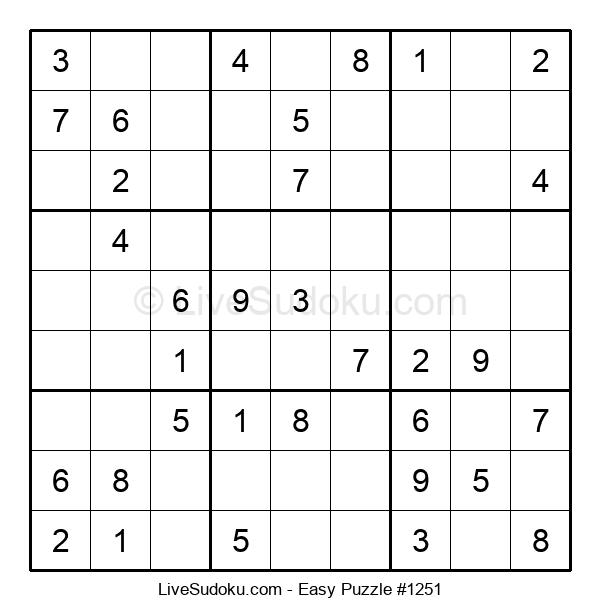 Beginners Puzzle #1251