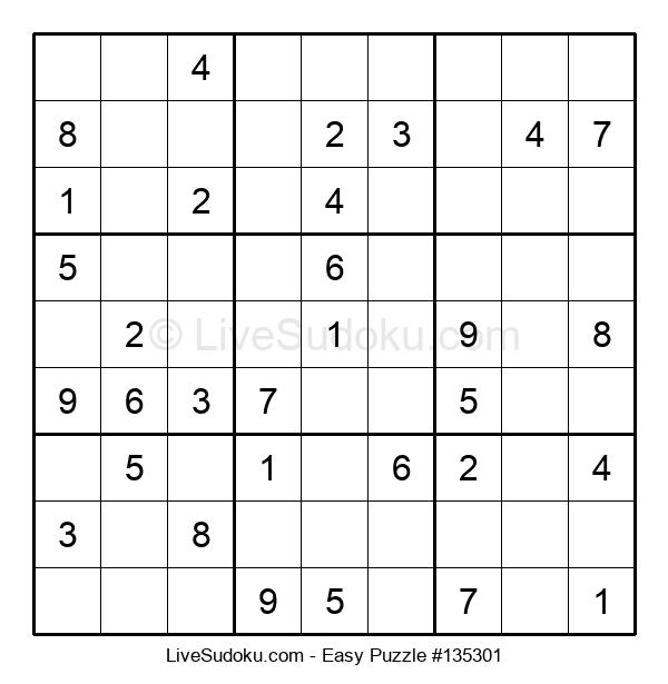 Beginners Puzzle #135301