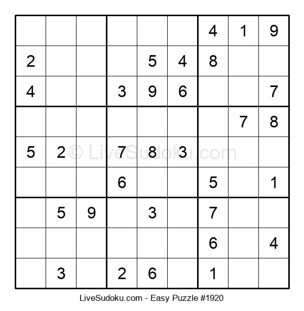 Beginners Puzzle #1920