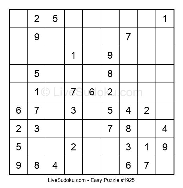 Beginners Puzzle #1925