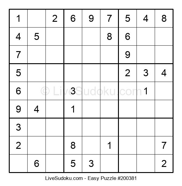 Beginners Puzzle #200381