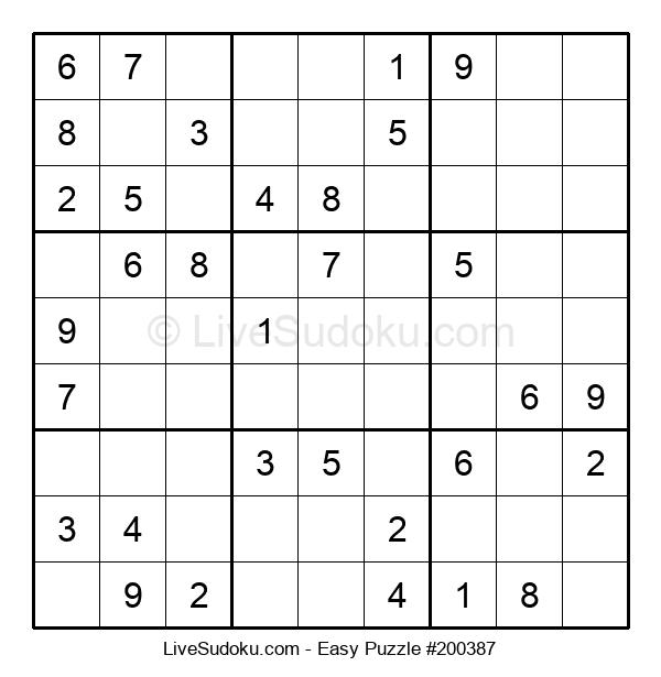 Beginners Puzzle #200387