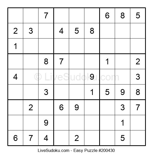 Beginners Puzzle #200430