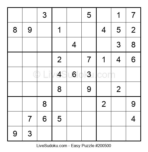 Beginners Puzzle #200500