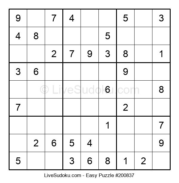 Beginners Puzzle #200837
