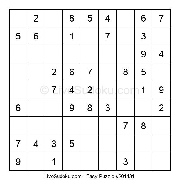Beginners Puzzle #201431