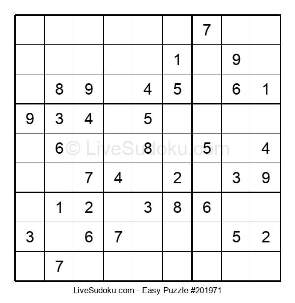 Beginners Puzzle #201971