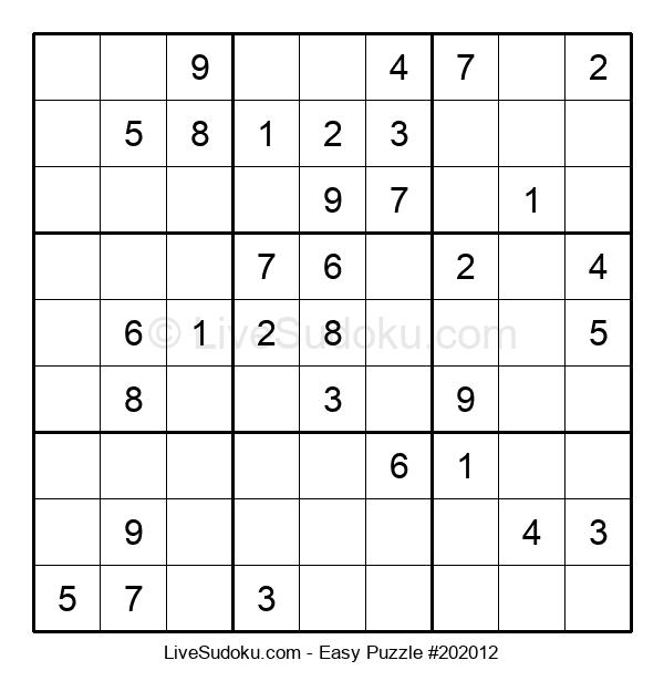 Beginners Puzzle #202012