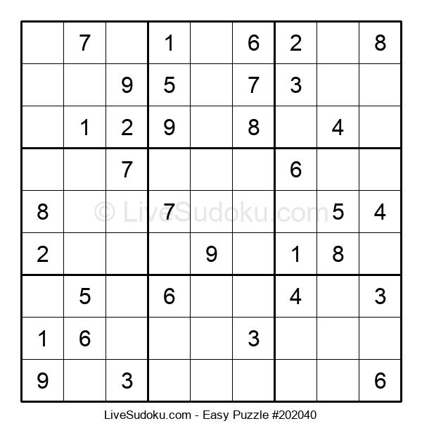 Beginners Puzzle #202040