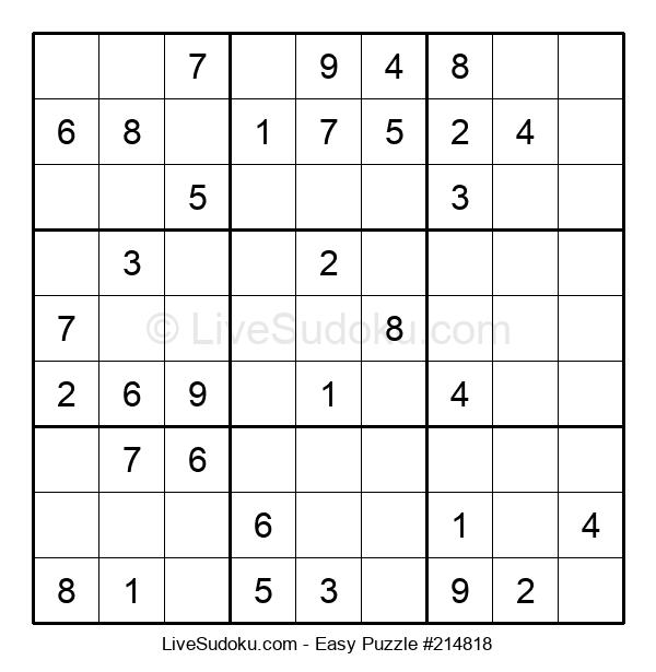 Beginners Puzzle #214818