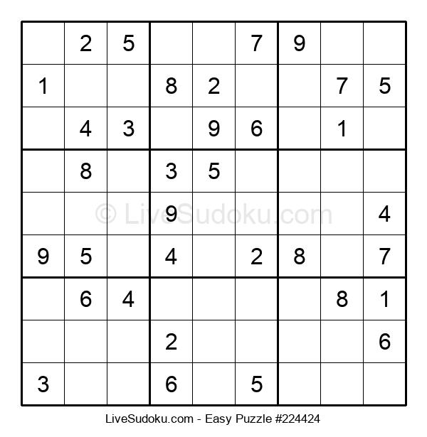 Beginners Puzzle #224424
