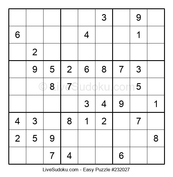 Beginners Puzzle #232027