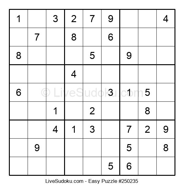 Beginners Puzzle #250235