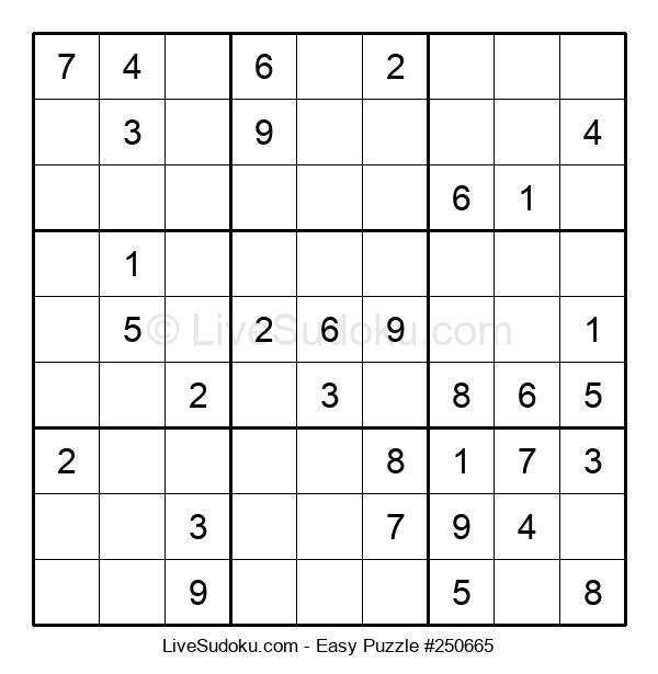 Beginners Puzzle #250665