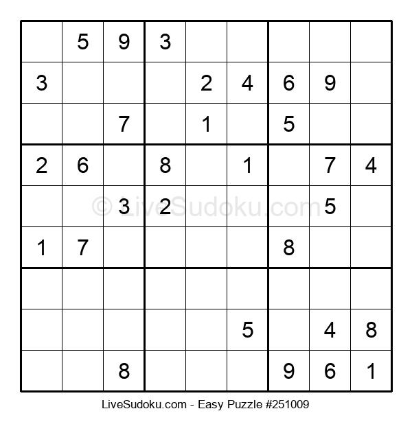 Beginners Puzzle #251009