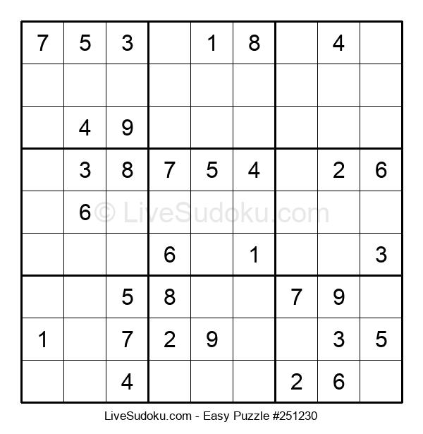 Beginners Puzzle #251230