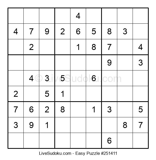 Beginners Puzzle #251411