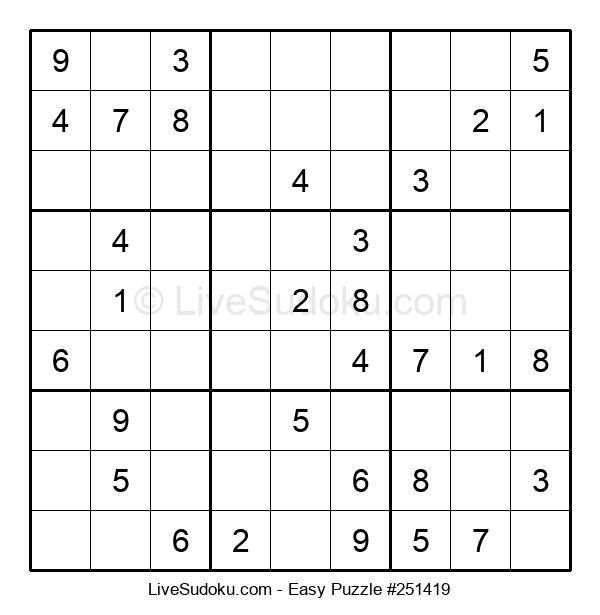 Beginners Puzzle #251419