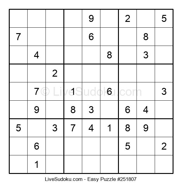 Beginners Puzzle #251807