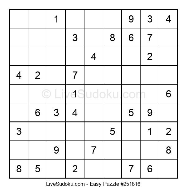 Beginners Puzzle #251816