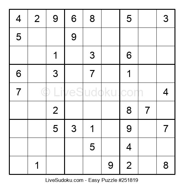 Beginners Puzzle #251819