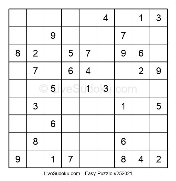 Beginners Puzzle #252021