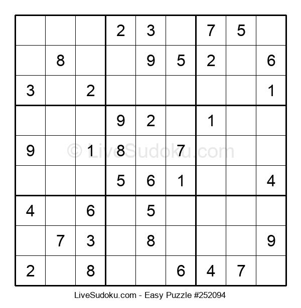 Beginners Puzzle #252094