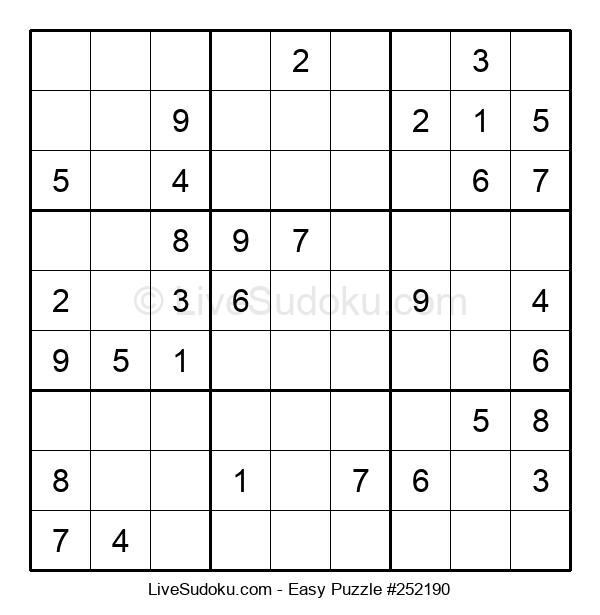 Beginners Puzzle #252190