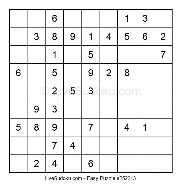 Beginners Puzzle #252213
