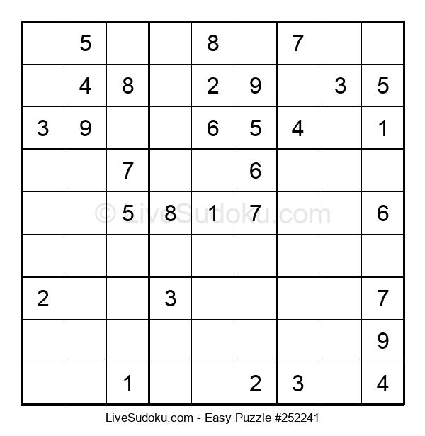 Beginners Puzzle #252241