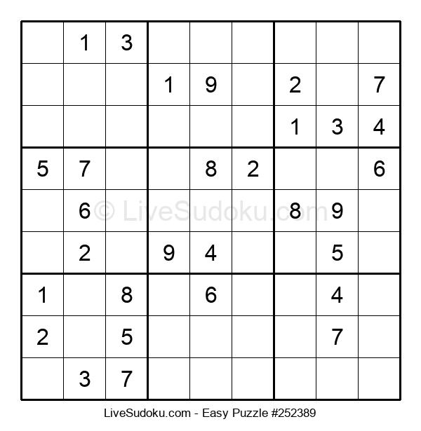 Beginners Puzzle #252389