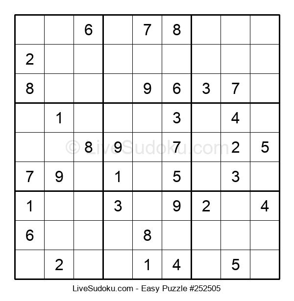 Beginners Puzzle #252505