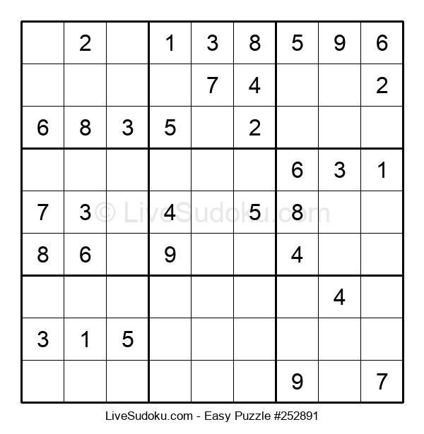 Beginners Puzzle #252891