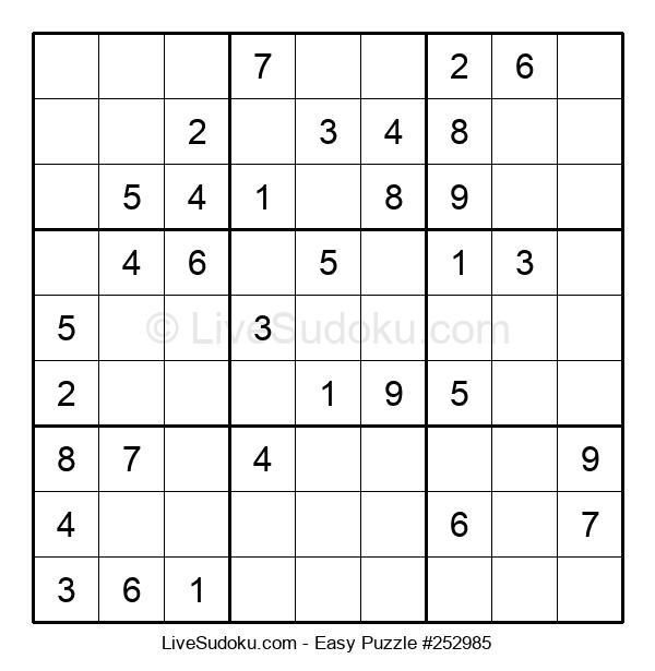 Beginners Puzzle #252985