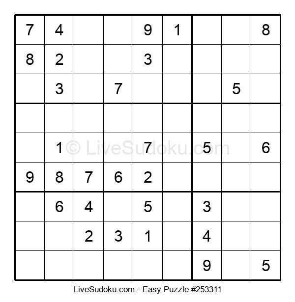 Beginners Puzzle #253311