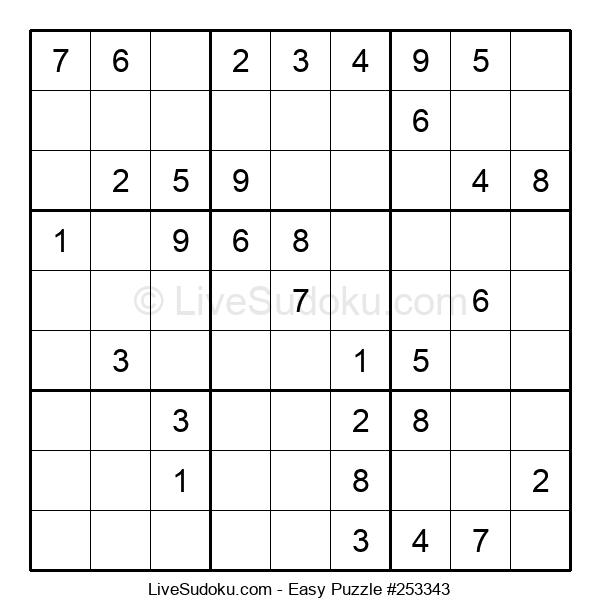 Beginners Puzzle #253343