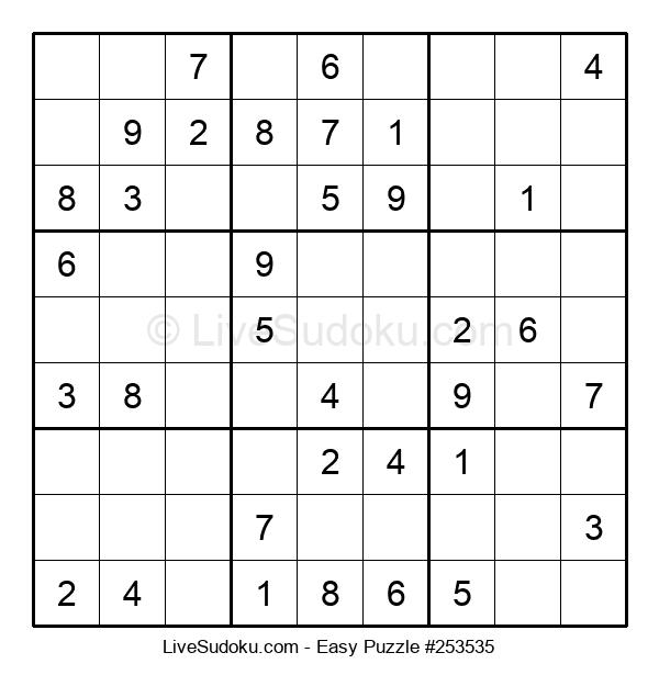 Beginners Puzzle #253535