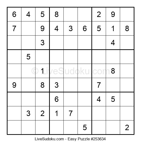 Beginners Puzzle #253634