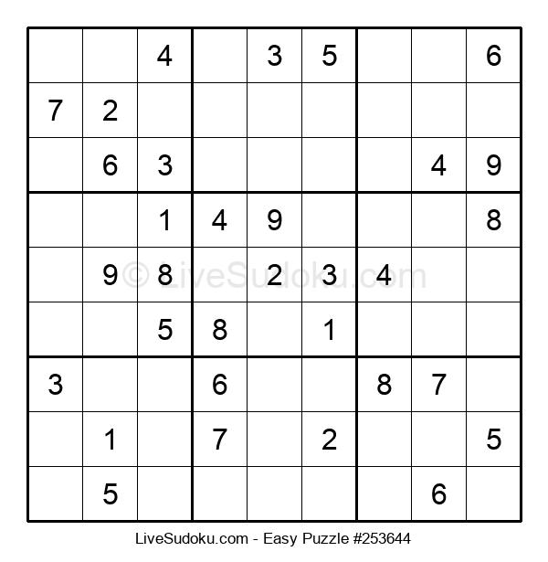 Beginners Puzzle #253644