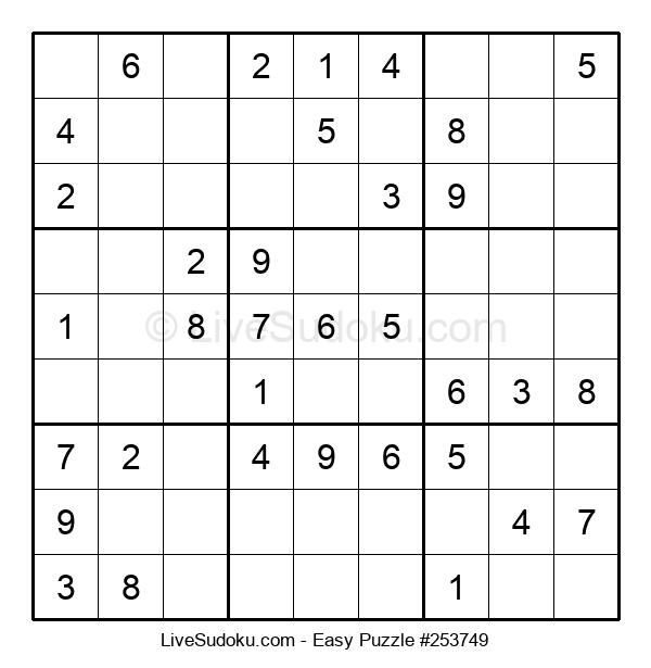 Beginners Puzzle #253749