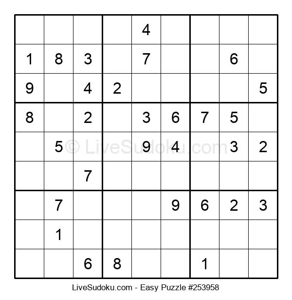 Beginners Puzzle #253958