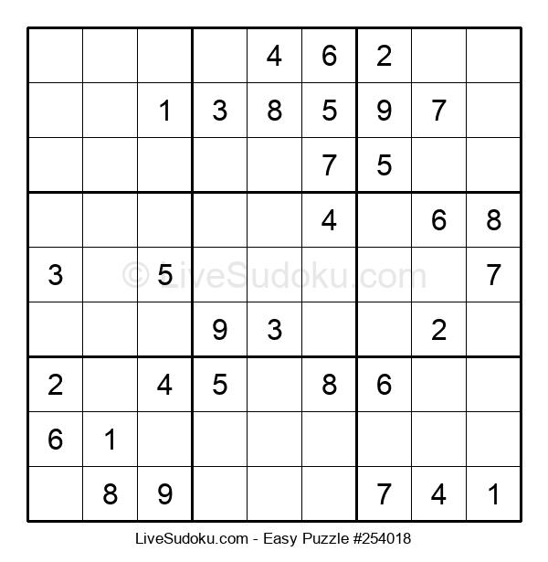 Beginners Puzzle #254018