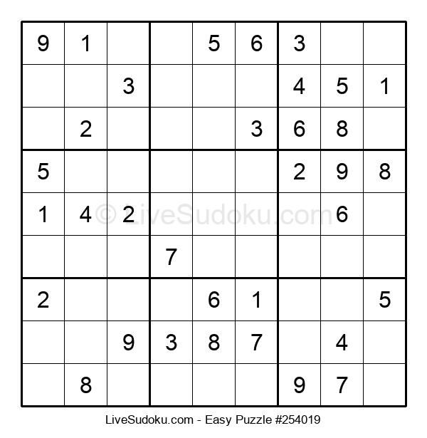 Beginners Puzzle #254019
