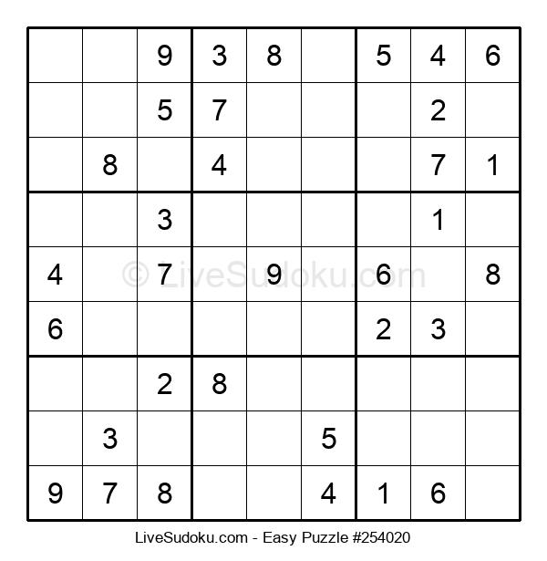Beginners Puzzle #254020