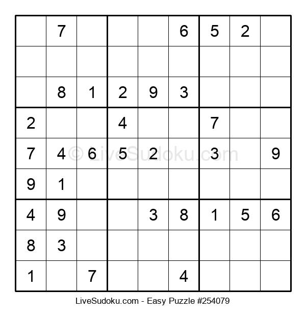 Beginners Puzzle #254079
