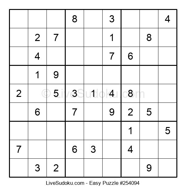 Beginners Puzzle #254094