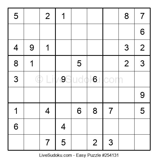 Beginners Puzzle #254131