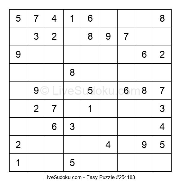 Beginners Puzzle #254183